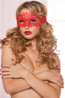 Seven 'Til Midnight Red Galloon Lace Eye Mask