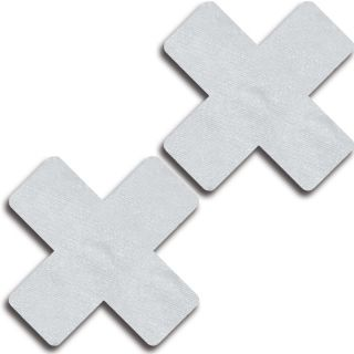 Glitter White Solid Colour Cross Pasties Set