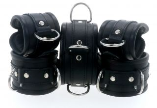 Black Leather Restraints