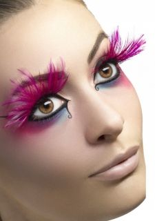 Pink Feather Eyelashes