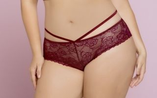 Seven 'Til Midnight Black Rose Galloon Lace Panties