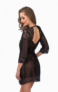 Peignoir Greta Black