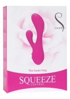 The Swan Hug Squeeze Controlled Vibrator Pink