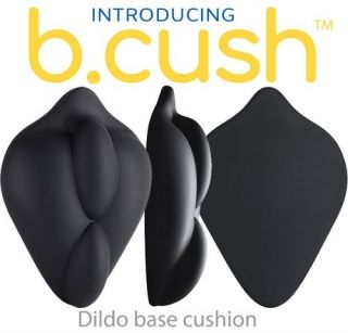 B.Cush Stimulating Strap-On Dildo Base